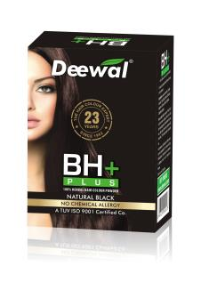 BH+(100% Herbal Hair Colour Powder)Black- Deewal Healthcare Pvt. LTD
